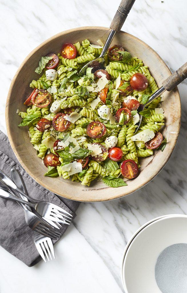 Green Pea Pesto Pasta Salad - Freaking Delish