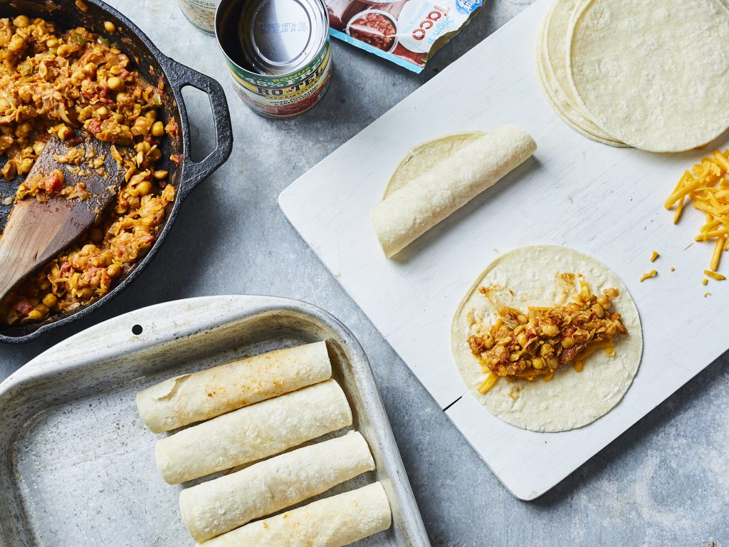 Taco Recipe - Vegetarian Tacos Baked Crispy in the Oven
