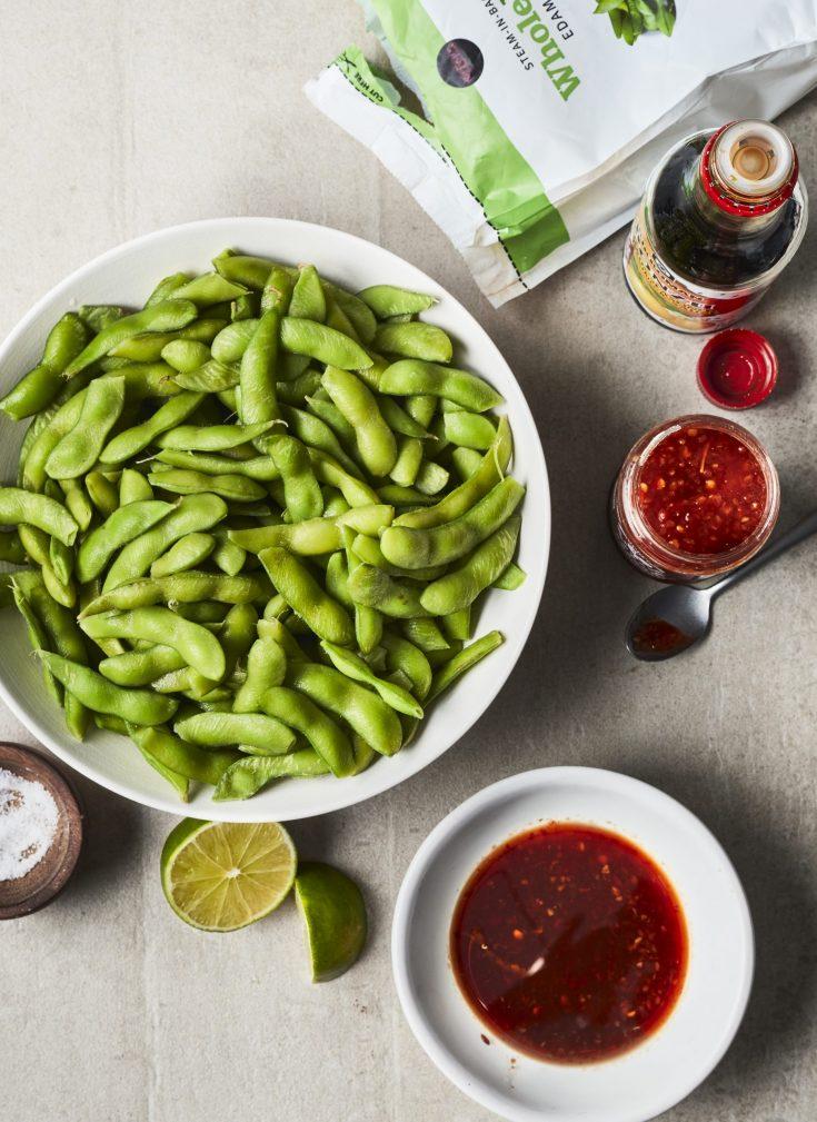 Edamame With Ponzu Garlic Sauce Lime - Grilled Vegetables