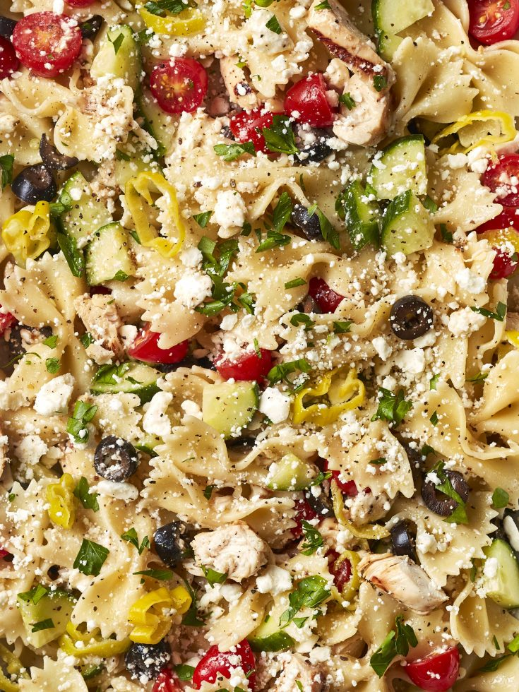 Loaded Greek Pasta Salad With Grilled Chicken