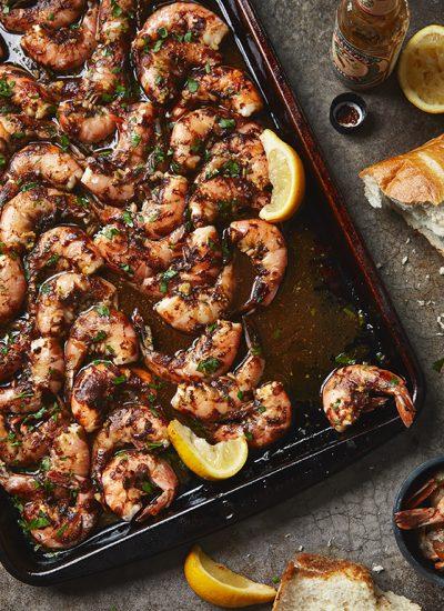 Easy 5 Ingredient BBQ Shrimp Sheet Pan Dinner