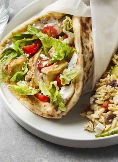 LIGHTEN UP DINNER: NO-COOK GRILLED CHICKEN GYROS