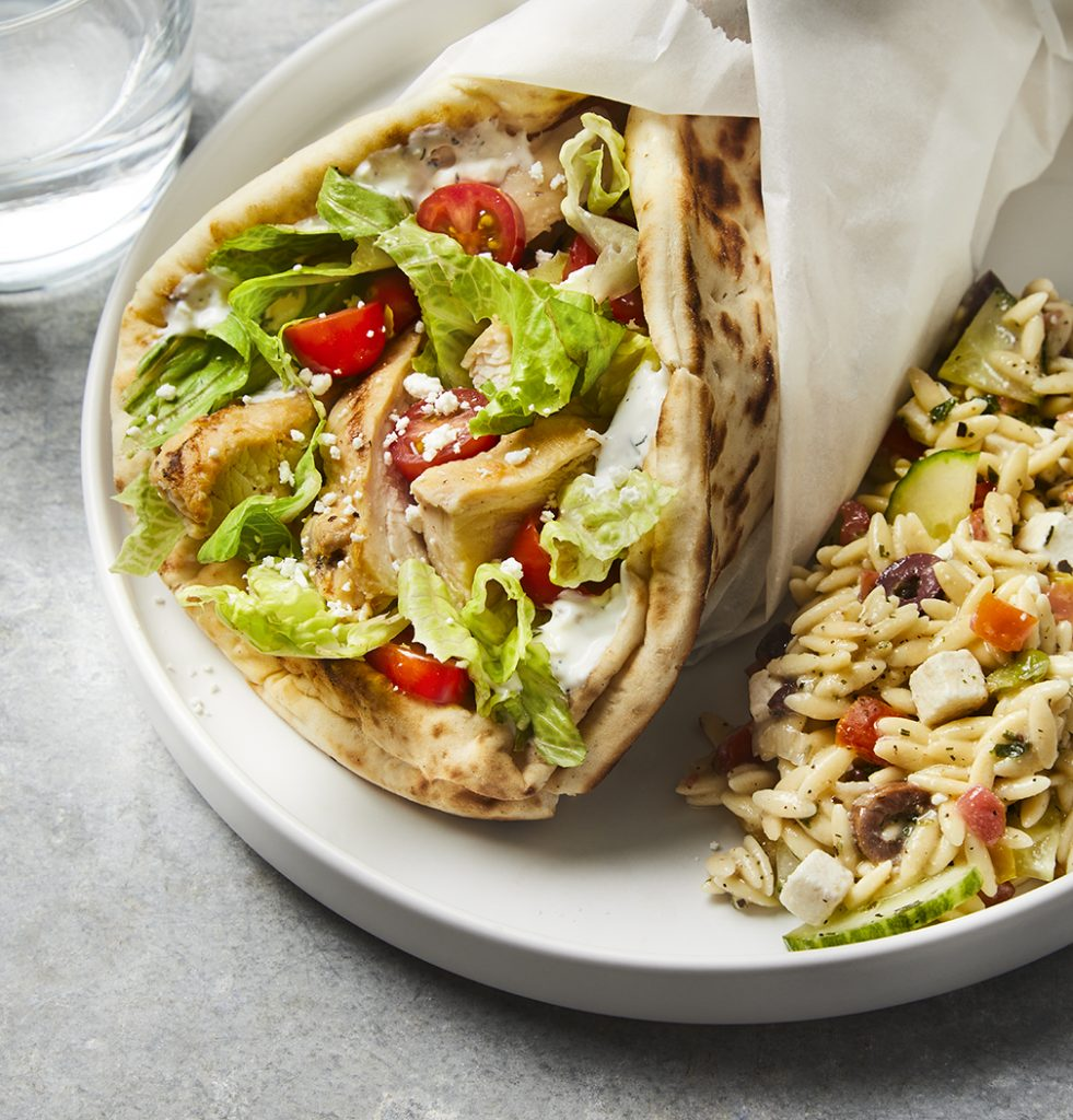 Grilled Chicken Gyros for dinner during the week