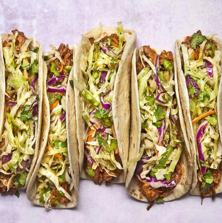Pulled Pork Tacos Asian Slaw - Taco Tuesday