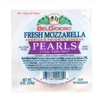 Belgioioso Fresh Mozzarella Pearl Cheese - 8oz